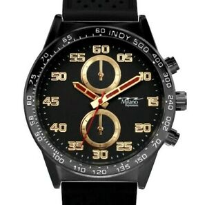 Mens Fashion Watch Milano MC46945, Black Silicone Band Water Resistant 1 ATM