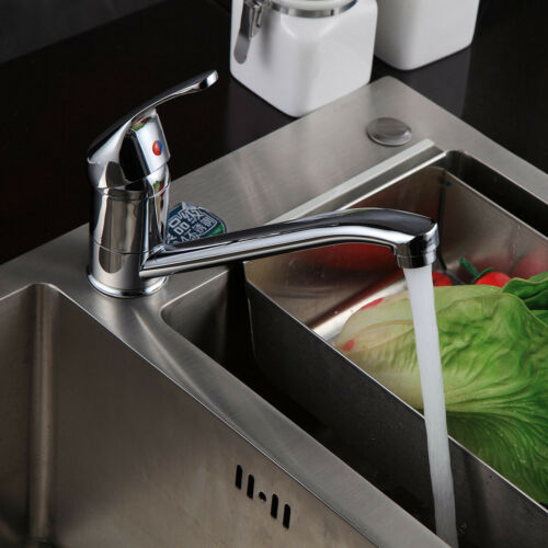 Taps Modern Basin Mixer Kitchen Sink Mono Deck Mounted Extended Lever Faucet Hot