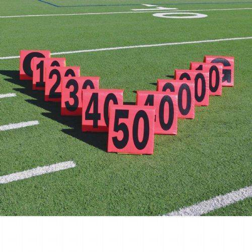 Pro Down® Day Night Football Sideline Markers - 11 Piece Set