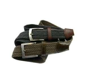 Cintura-uomo-intrecciata-corda-verde-salvia-o-grigio-con-parti-fibia-marrone