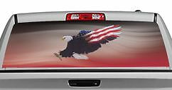 Wings of Freedom Red 20x65in DC29909 Truck Rear Window Decal Graphic