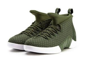 cf35c299de4519 Nike Air Jordan 15 XV x PSNY QS. Size 11. Olive Green White Woven ...