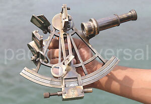 MARINE COLLECTIBLE NAUTICAL BRASS WORKING SHIP ASTROLABE SEXTANT VINTAGE STYLE.