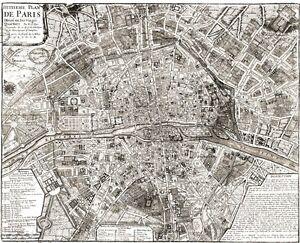 Old PARIS Map LARGE VINTAGE Historic FRANCE OLD ANTIQUE STYLE - Large map of paris france