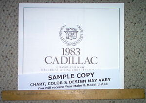 1983 cadillac seville body wiring diagrams factory oem gm ebay Gucci Cadillac Seville image is loading 1983 cadillac seville body wiring diagrams factory oem