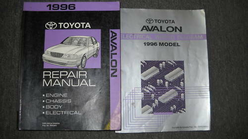 1996 Toyota Avalon Service Repair Shop Manual Set Oem W Wiring Diagram Electric