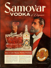 1958 Vintage ad for SAMOVAR VODKA`Punch Bowl`Man with a Beard (021614)