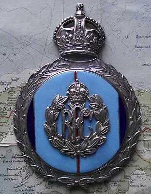 Old Gaunt Heavy Chrome Enamel Car Mascot Radiator Badge RFC Royal Flying Corps B