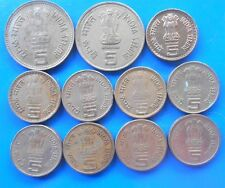 11 Coins YEAR SET - 5 Rupee Copper Nickel -  Commemorative Coin - india