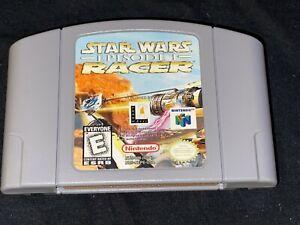 Star Wars: episodio Uno I: Racer (Nintendo 64, 1999) Liberado/Probado/Auténtico N64