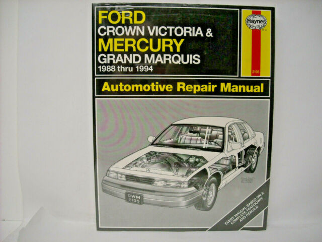 1988 Thru 1994 Ford Crown Victoria Repair Manual