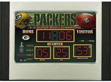 Green Bay Packers Scoreboard Desk & Alarm Clock [NEW] NFL Watch Time Office