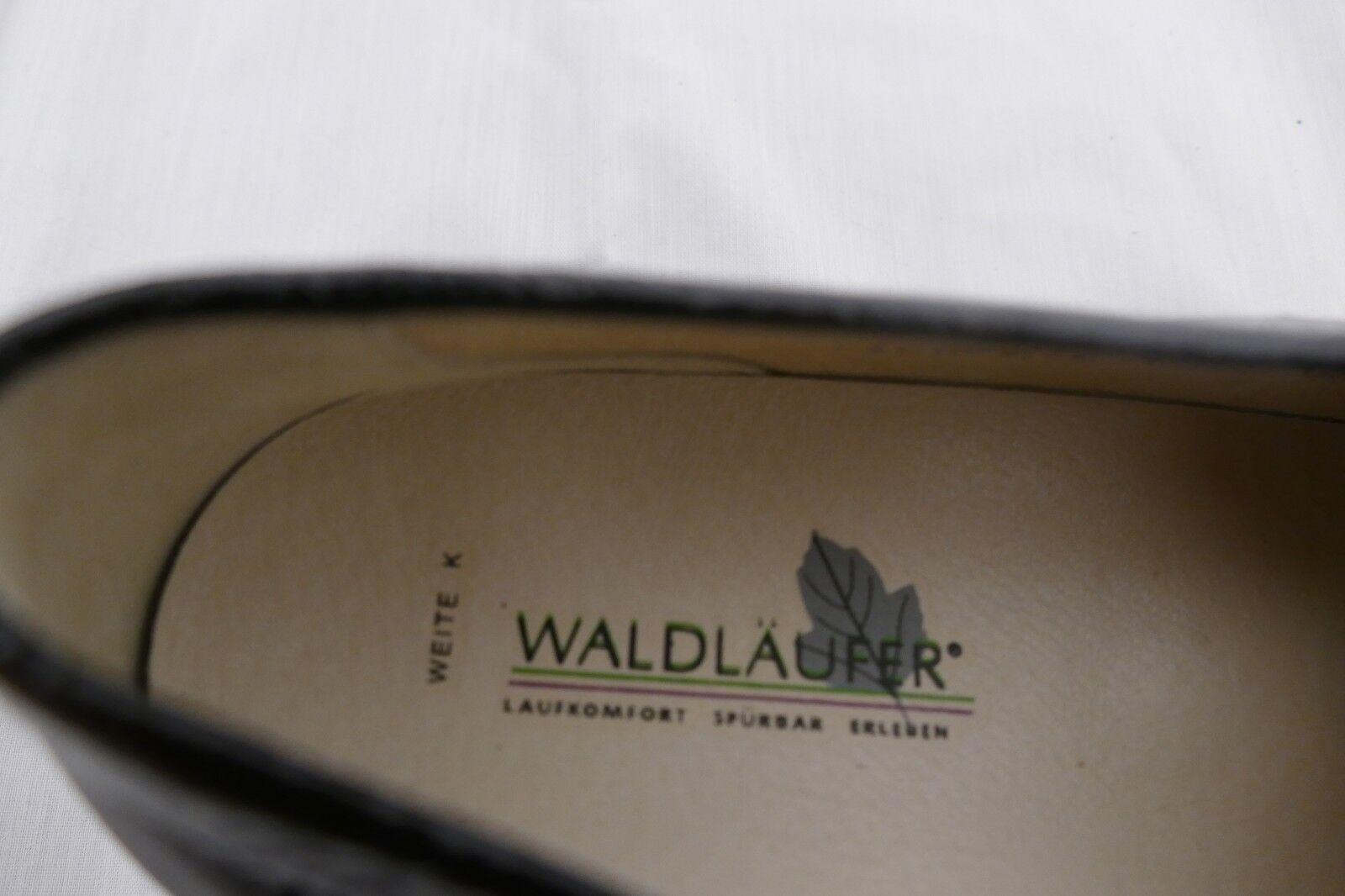 1237---Waldläufer schwarz UK Leder 4,5 Gr.37,5 Lackleder/ Glattleder Leder UK innen,neu 73ee76