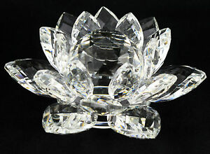 CRYSTAL-CUT-LOTUS-FLOWER-ORNAMENT-WITH-GIFT-BOX-CLEAR-COLOUR-Home-Decor