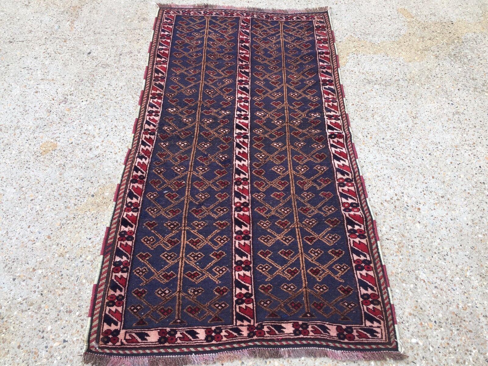 Handmade Afghan Tribal mushvani mushvani mushvani Oriental Laine Tapis 92x172cm Posted in UK | Outlet Store  130350