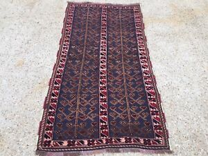 Details About Handmade Afghan Tribal Mushvani Oriental Wool Rug 92x172cm Posted In Uk