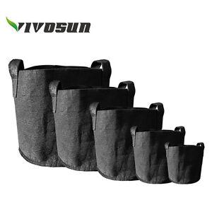 VIVOSUN-5-Pack-Fabric-Plant-Pots-Grow-Bags-w-Handles-2-3-5-7-15-20-25-30-Gallon