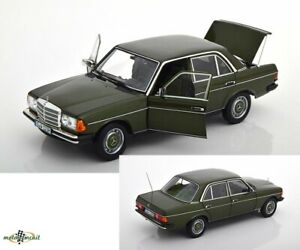 Mercedes-Benz-200-W123-Saloon-Cypress-Green-Metallic-1-18-Norev-Dealer