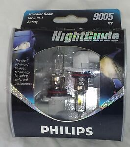 new philips nightguide night guide 9005 ngs2 12v 2 pack ebay. Black Bedroom Furniture Sets. Home Design Ideas