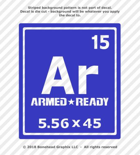 AR-15 Decal 5.56 Periodic Element Funny AR15 Rifle Gun Vinyl Sticker 25 Colors
