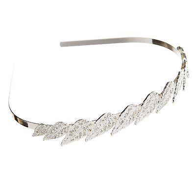 Darice Victoria Lynn Tiara Headband Silver Rhinestones and Pearls 6 Pack