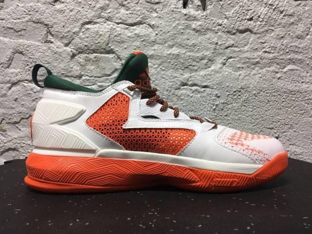 Adidas SM D Lillard 2 PK NCAA Uomo Shoes White/Green/Orange NIB B38916