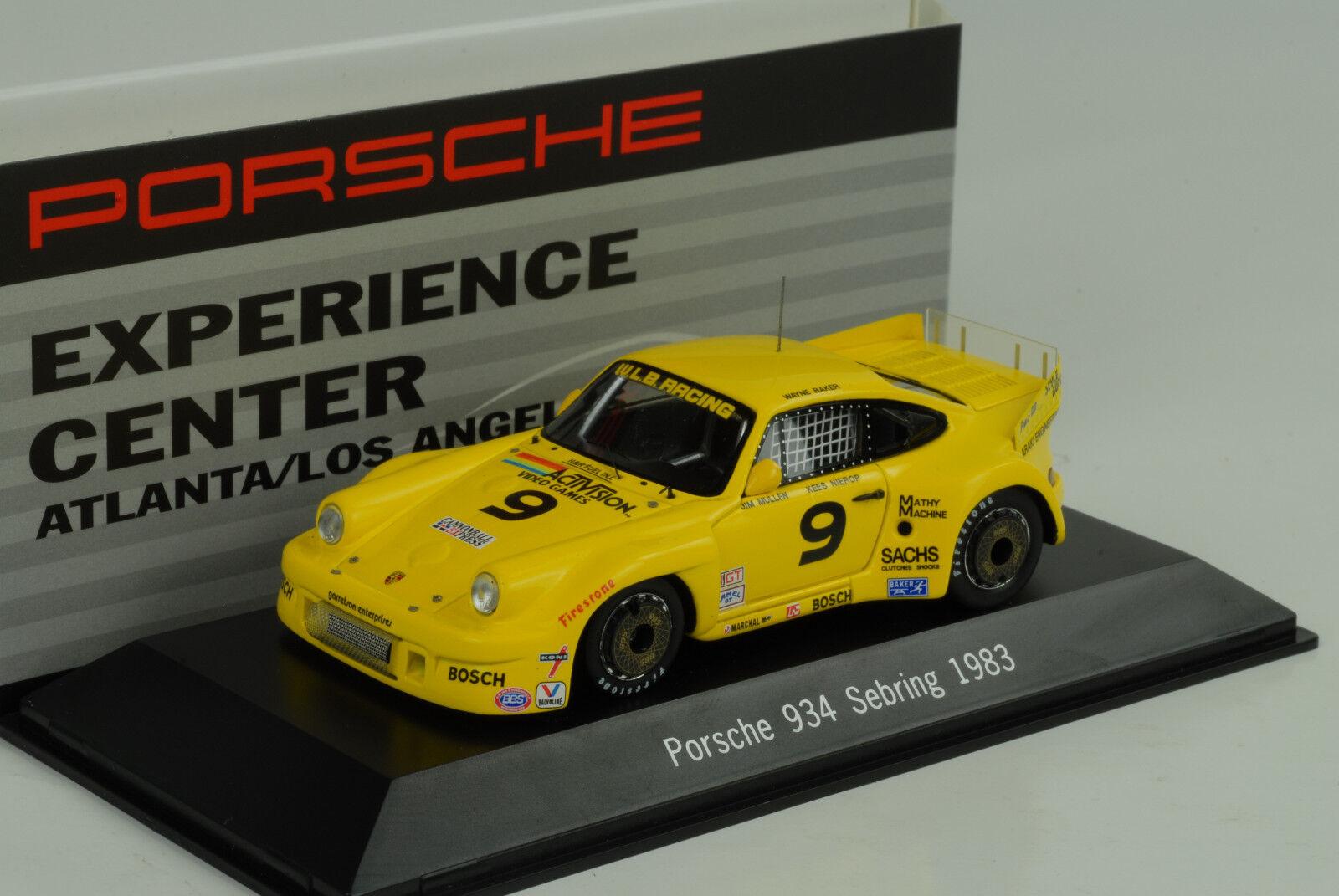 1983 Porsche 911 934 Sebring #9 Expérience Centre Atlanta 1:43 Spark Musée | Léger