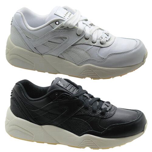 Zapatos promocionales para hombres y mujeres Puma Trinomic R698 Deco Zapatillas de mujer Zapatos Con Cordones Blanco y negro