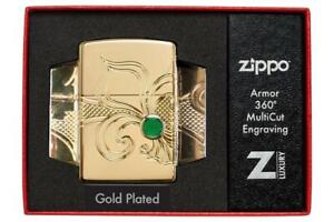 Zippo-Lighter-Armor-Fleur-de-lis-Design-New-amp-Boxed