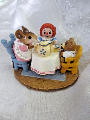 "Wee Forest Folk /""TEA FOR THREE M177/"" Donna Petersen 1991 KH"