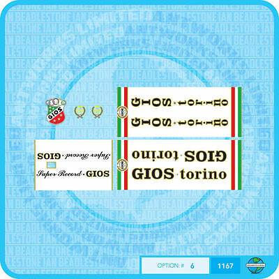 Stickers Set 7 Gios Torino Professional Bicycle Decals Transfers