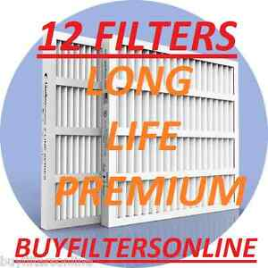 AIR-FILTERS-12-PACK-GLASFLOSS-ZXP-MERV-10-HOME-FURNACE-AIR-CONDITIONING-PLEATED