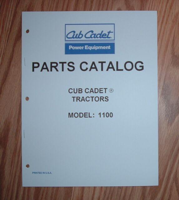Cub Cadet 1100 Tractor  U0026 Engine Part Lists W   Diagrams