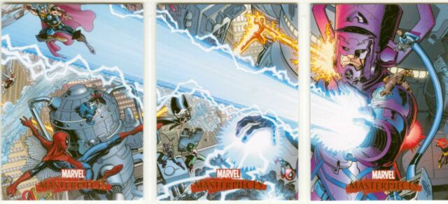 Marvel Masterpieces 2007 Complete Art Adams Splash Chase Card Set #1-3