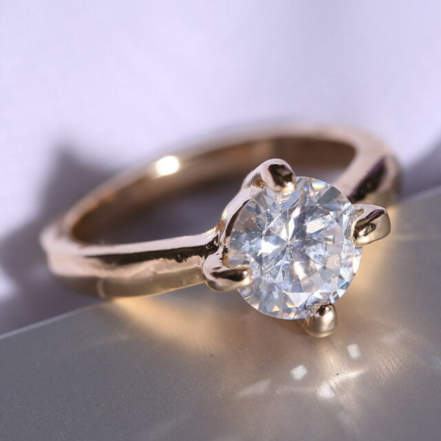 18K White Gold Filled Wedding Jewellery white Sapphire Engagement  size 8 Ring