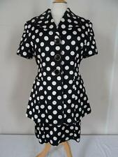 Vintage Tristano Onofri DRESS SUIT black/white spots  UK size 14    327 B