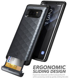 newest e4b69 9ba92 Details about For Samsung Galaxy Note 8 Case Clayco Argos Series With  Credit Card/ID Card Slot
