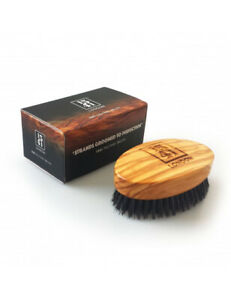 1541-London-Olive-Wood-Mens-Military-Hair-Brush-With-Pure-Black-Bristle-MB02