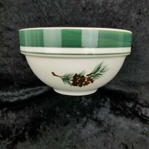 LL-Bean-EVERGREEN-Pinecone-Cereal-Soup-Bowl-6-1-4-034-x-3-25-034-buy-1-or-all-4-EUC