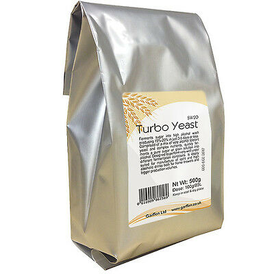 Turbo Yeast SW20 48 Home Alcohol Distilling and Industrial Fermentation 500g x 3