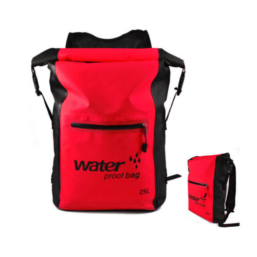 PRO 25L Waterproof Outdoor Camping Water Backpack Dry Bag Sports Canoe Kayaking