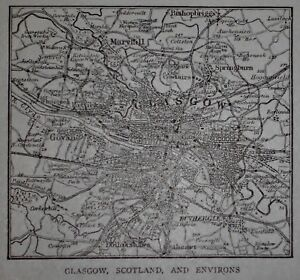 Lk antique 1914 sm world atlas maps of glasgow scotland central image is loading l k antique 1914 sm world atlas maps of gumiabroncs Image collections