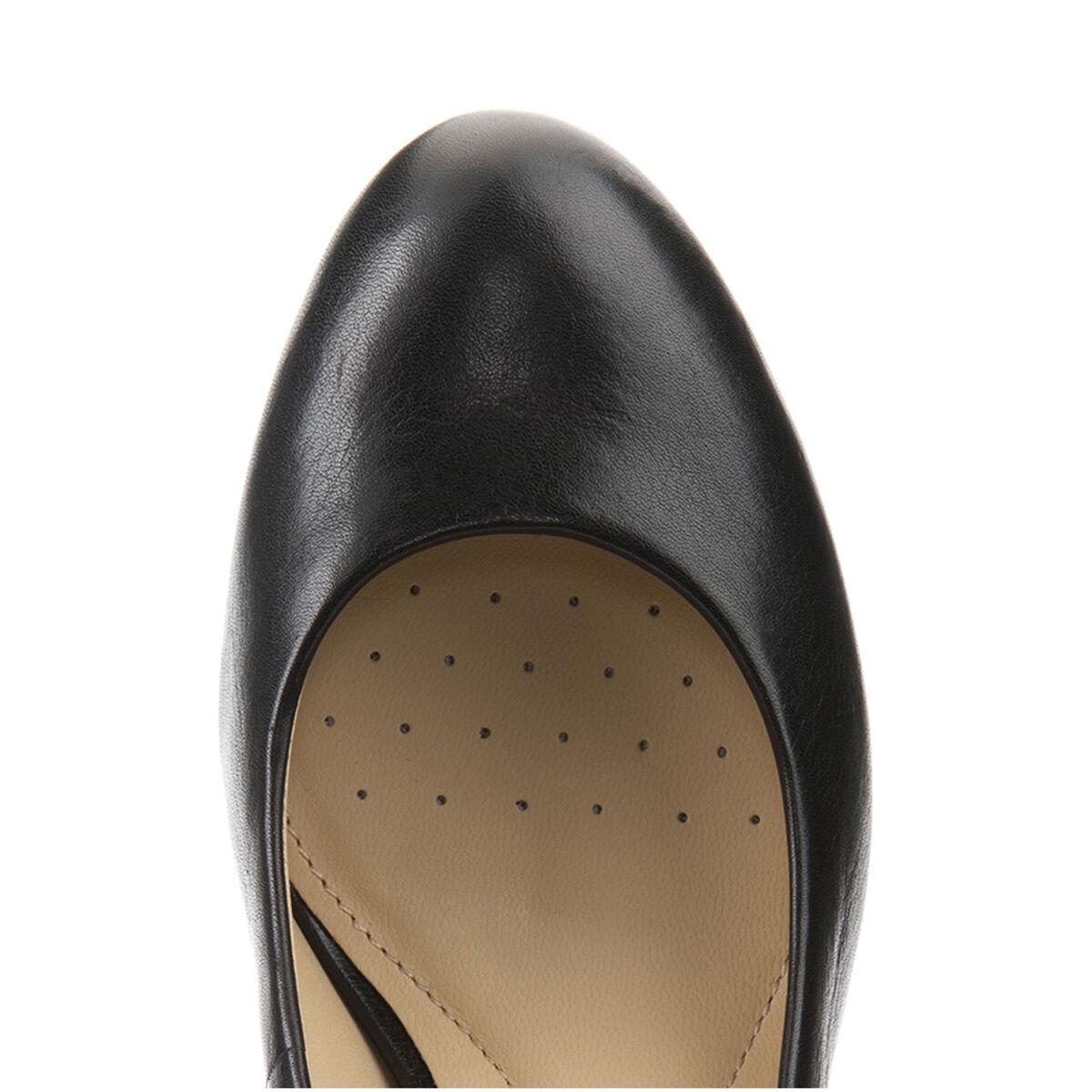 GEOX ALTO Schuhe Damens DECOLTE' IN PELLE NERO CON TACCO ALTO GEOX LINEA LANA D52Q6C 268a0c