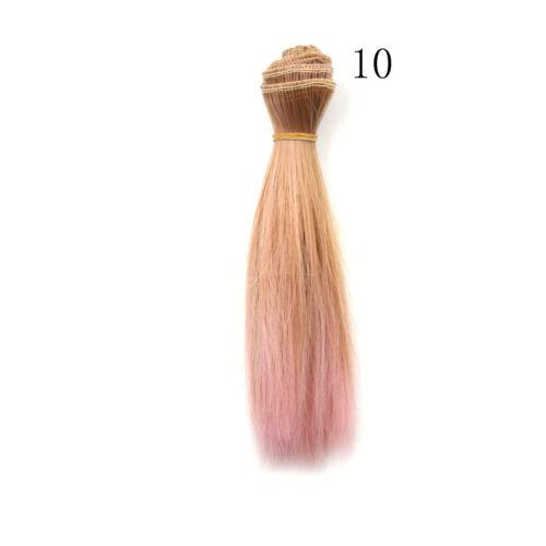 Doll 15cm*100cm Naturally straight hair DIY High-temperature Doll Wigs SL