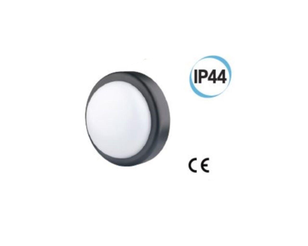 Fanale LED per esterno tondo supporto D D D 197 Coloreeee nero Electraline 65008 5a66e8