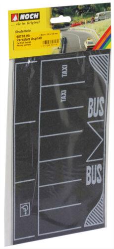 Parking asphalte 2 pièces 22 x 14 cm modèle de chemin de fer GMK 60718 encore HO
