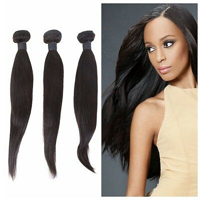 100% Virgin Brazilian Human Hair Weave Extensions Unprocessed STRAIGHT 1 Bundle