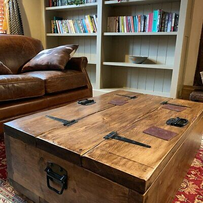 The Breton A Rustic Traditional Chest And Coffee Table Ebay