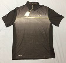 Nike Tiger Woods Collection Golf Shirt Polo (M, Black, Striped)(NWT)(Blemish)