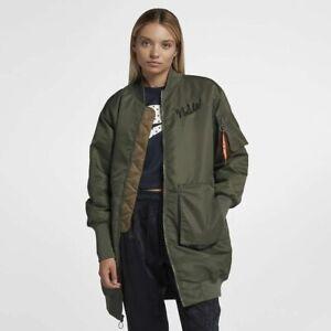 Women-039-s-Nike-Sportswear-NSW-Parka-Jacket-Olive-Canvas-Size-XL-932049-395-New